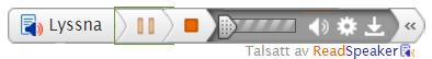 Öppnad Readspeakers spelare med flera funktioner.